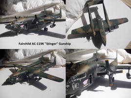 Fairchild AC-119K Stinger Gunship by Teratophoneus