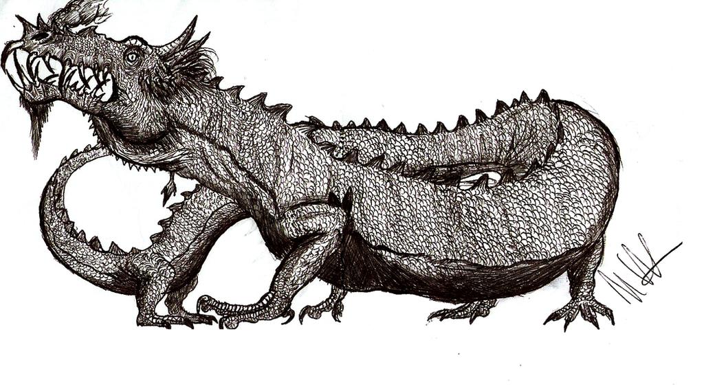 Ballpen Dragon doodle by Teratophoneus