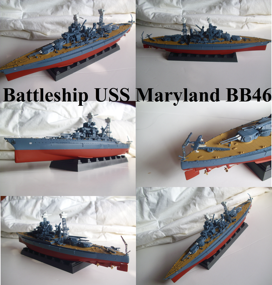 USS Maryland BB 46 by Teratophoneus