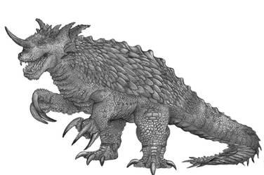 Kaiju Revised Baragon by Teratophoneus