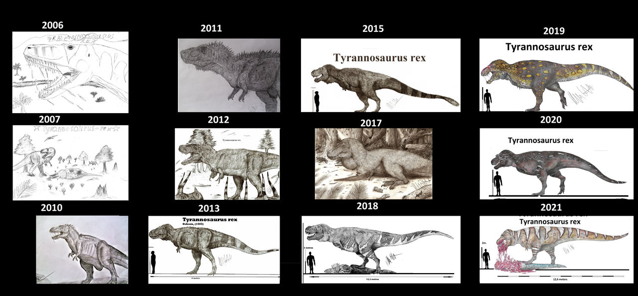 T.rex over the years