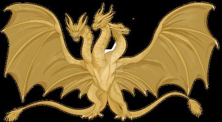 [Fanart Friday] King Ghidorah by Jumpy-Joltik