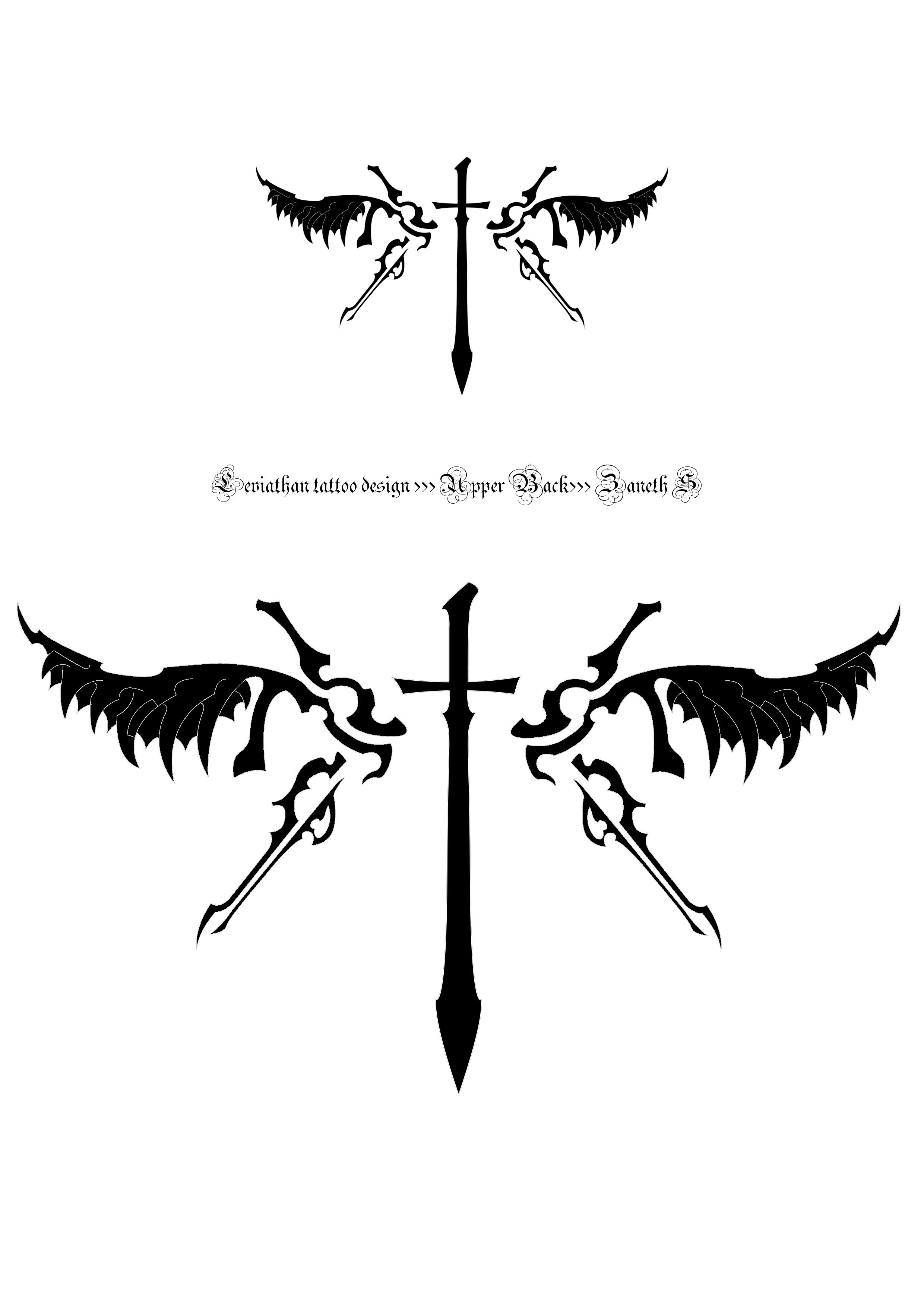 leviathan tattoo by 2o negative on deviantart. Black Bedroom Furniture Sets. Home Design Ideas