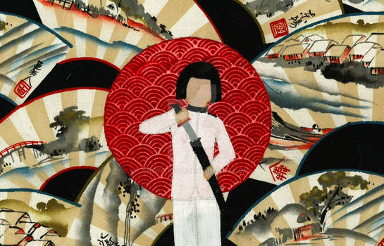 Japan Quilted Wallhanging
