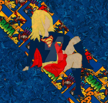 Supergirl Quilted Wallhanging