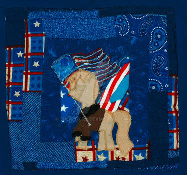 America Pony Quilted Wallhanging