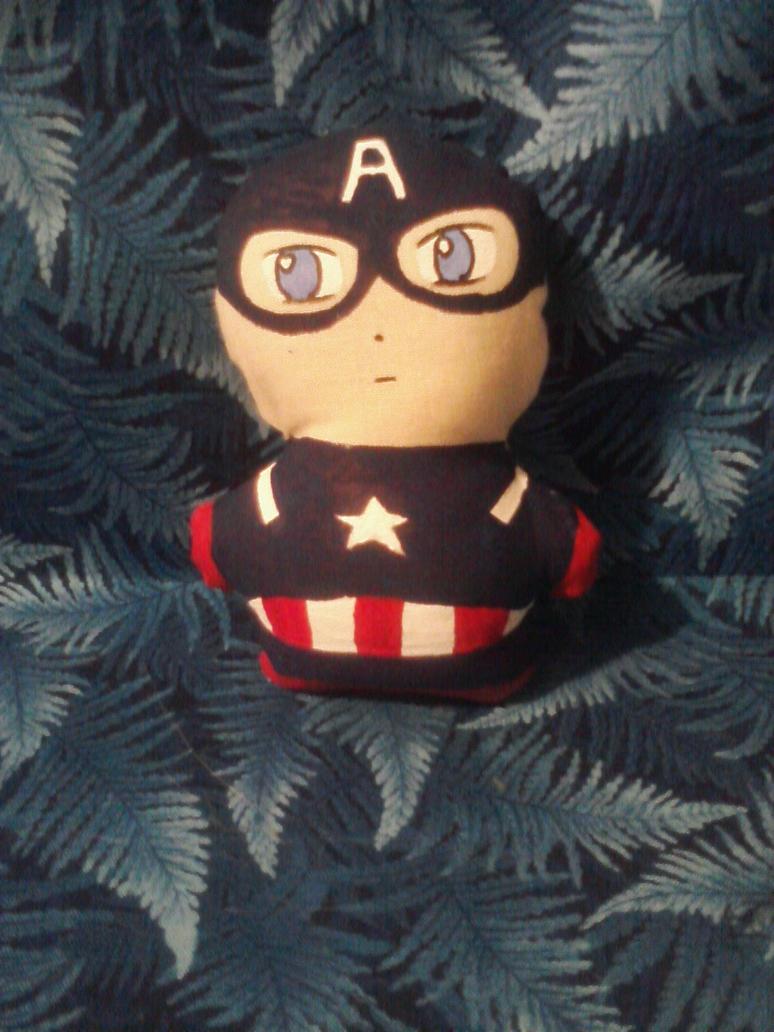 Captain America Mini Plushie by snowtigra