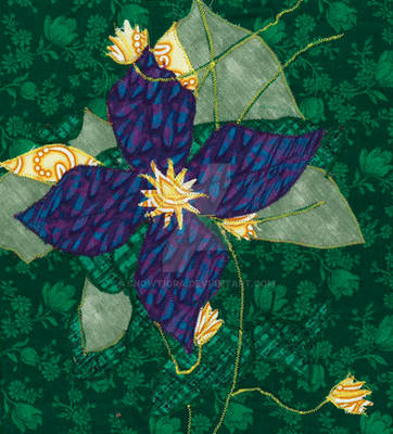 Clematis Wall Hanging