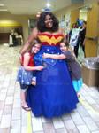 Complete Wonder Woman dress