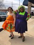 Dragon Ball Dresses - Gohan and Piccolo by snowtigra