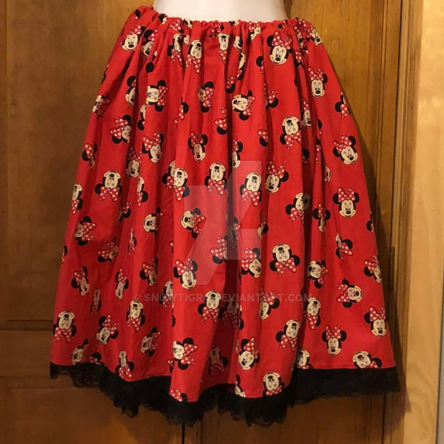 Minnie Mouse Skirt by snowtigra