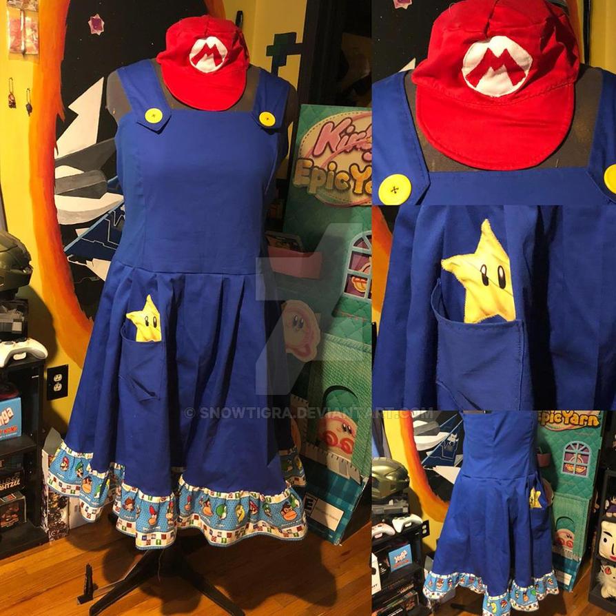 Mario Dress v2 and Hat by snowtigra