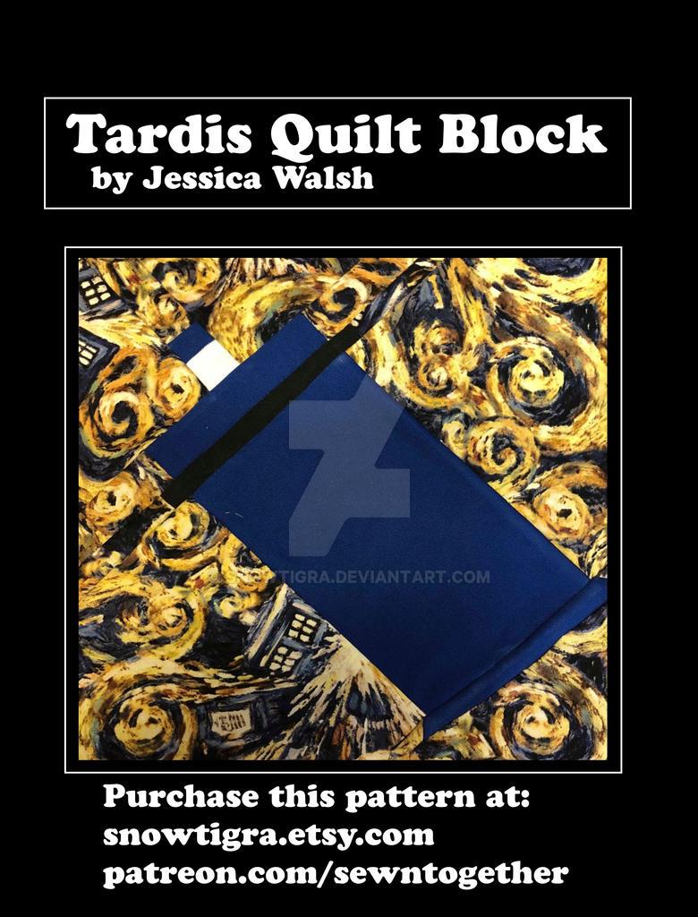 Tardis Quilt Block Pattern by snowtigra