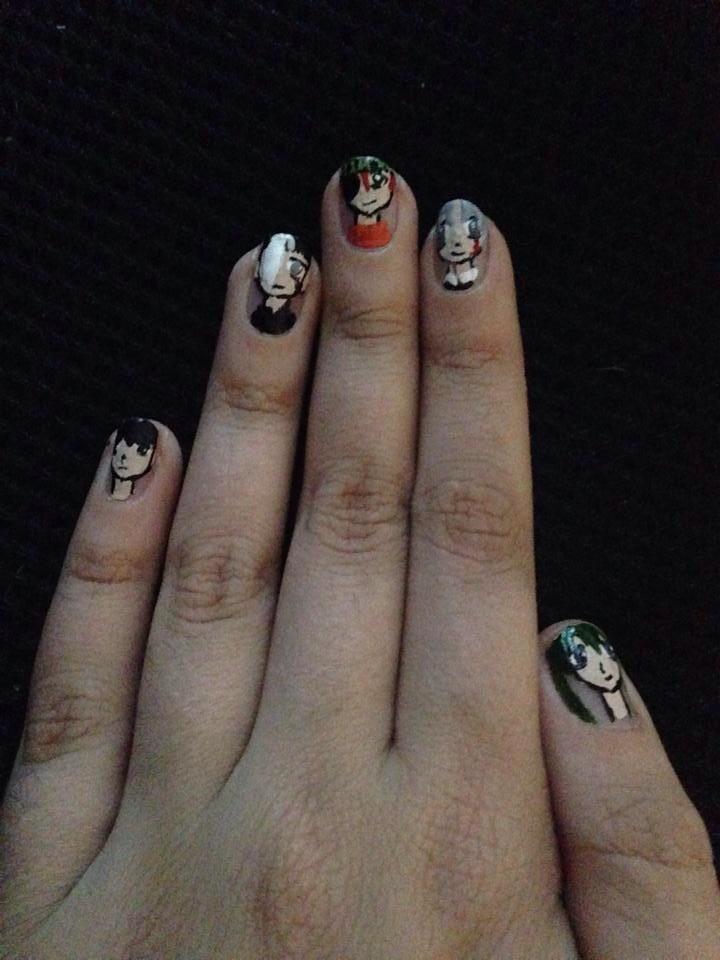 D gray man nails by AnimeIsMySugar