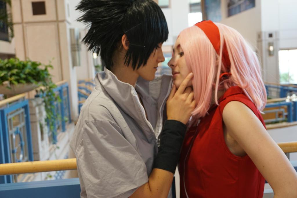 sasuke kiss sakura by AnimeIsMySugar