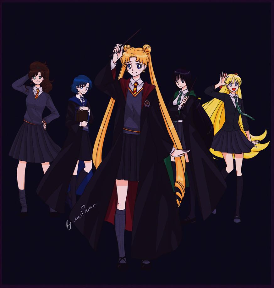 Anime Characters Hogwarts Houses : Sailor moon harry potter by lisginka on deviantart