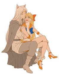Sailor Venus and Artemis by lisGinka
