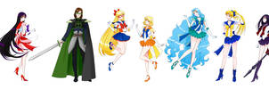 Sailor Senshi from Sailormoon Neo (by Janelle J.)