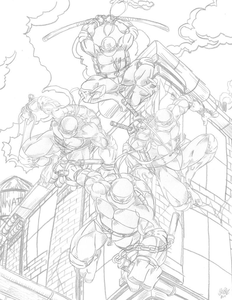 Line Art Ninja : Teenage mutant ninja turtles by go kun on deviantart