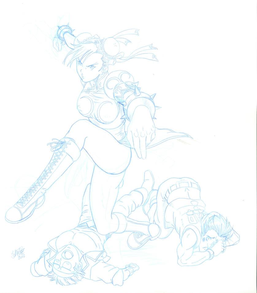 Chun Li Sketch by go-kun