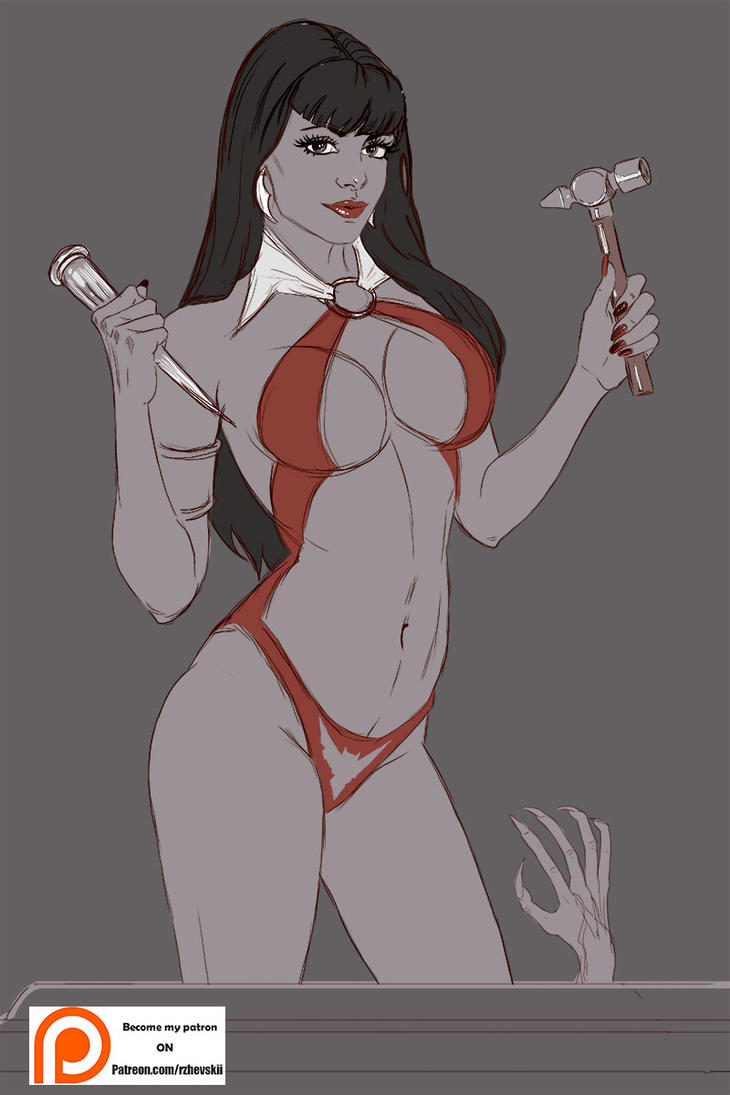 Vampirella2 Sketch by rzhevskii