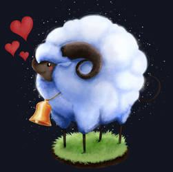 FFXIV : Realm Reborn -Tender Lamb minion fanart-