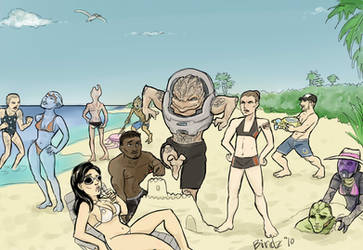 Mass Effect Crew on vacation