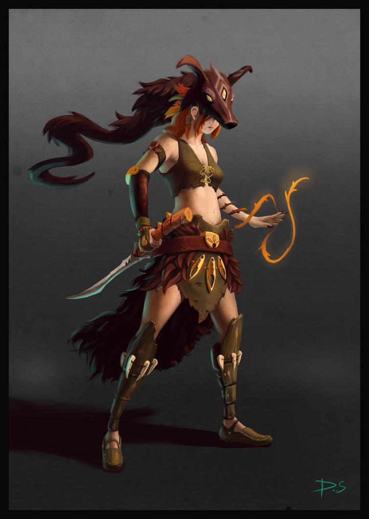 Kiara Character Painting by JudgementPanda