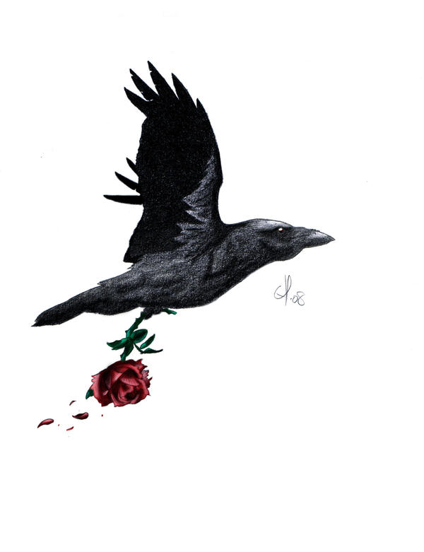 Raven rose tattoo meaning