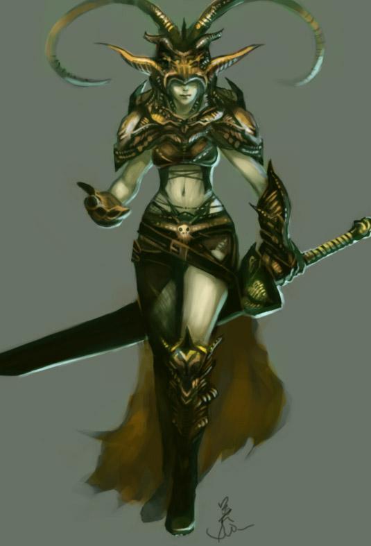 Elite Death Priestess by Enu-kamesama
