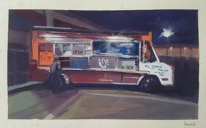 Gouache Taco Truck by blee-d