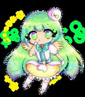 Collab: Shiny green star! by StrawberryDani