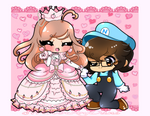 C| The princess and her knight!