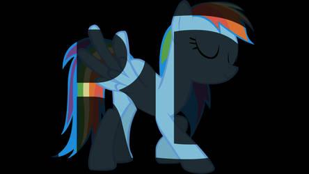 Initial Typography - Rainbow Dash