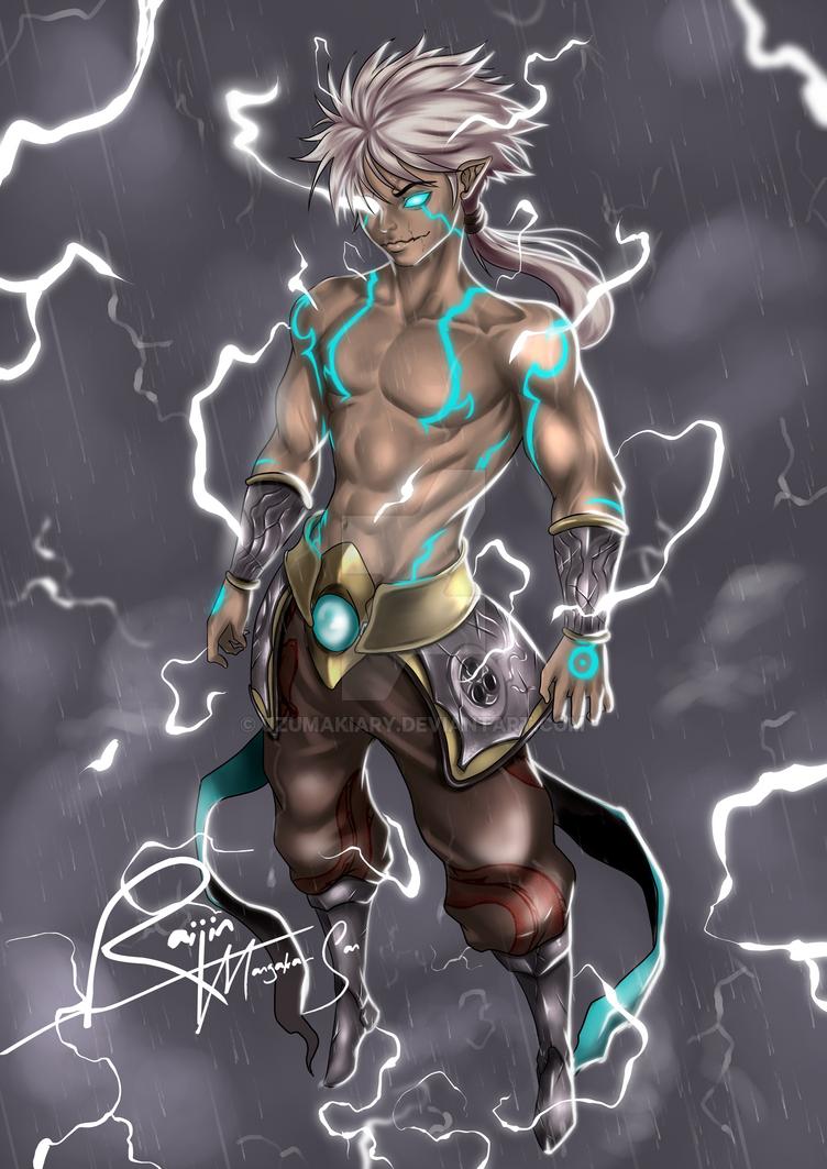 Raijin - Thunder God by UzumakiAry