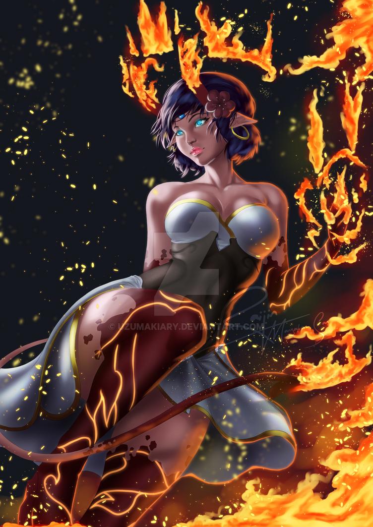 FireQueen - Sara by UzumakiAry