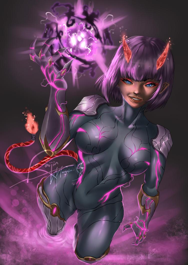 Pink Demon by UzumakiAry