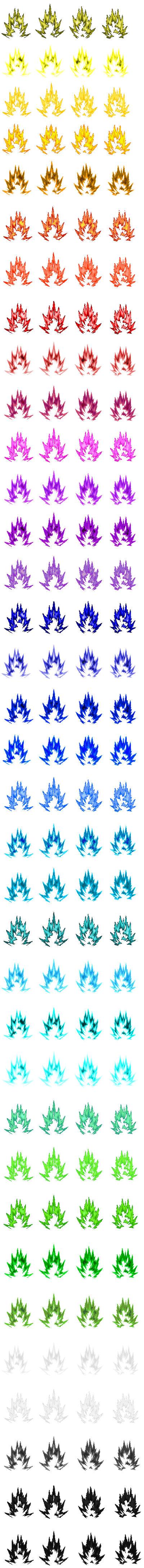Dbz Aura Sprite Sheet By Mrsupersonic1671 On Deviantart