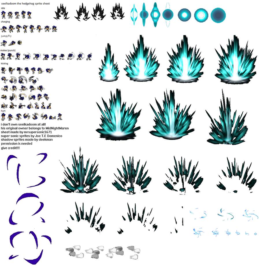 Seelkadoom The Hedgehog Sprite Sheet Complete By