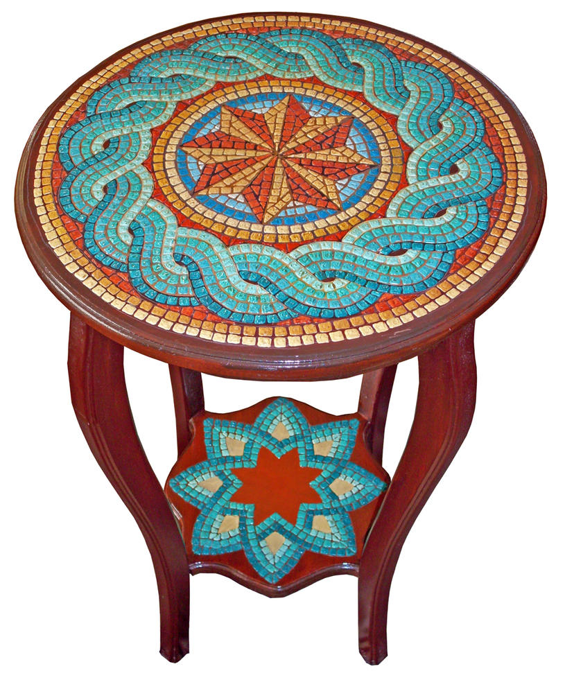 Greek Mosaic Style Coffee Tabl by birsenmahmutoglu on DeviantArt