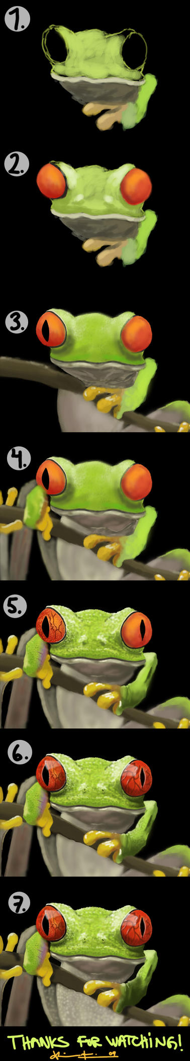 frog realistic progress by Fresh-H