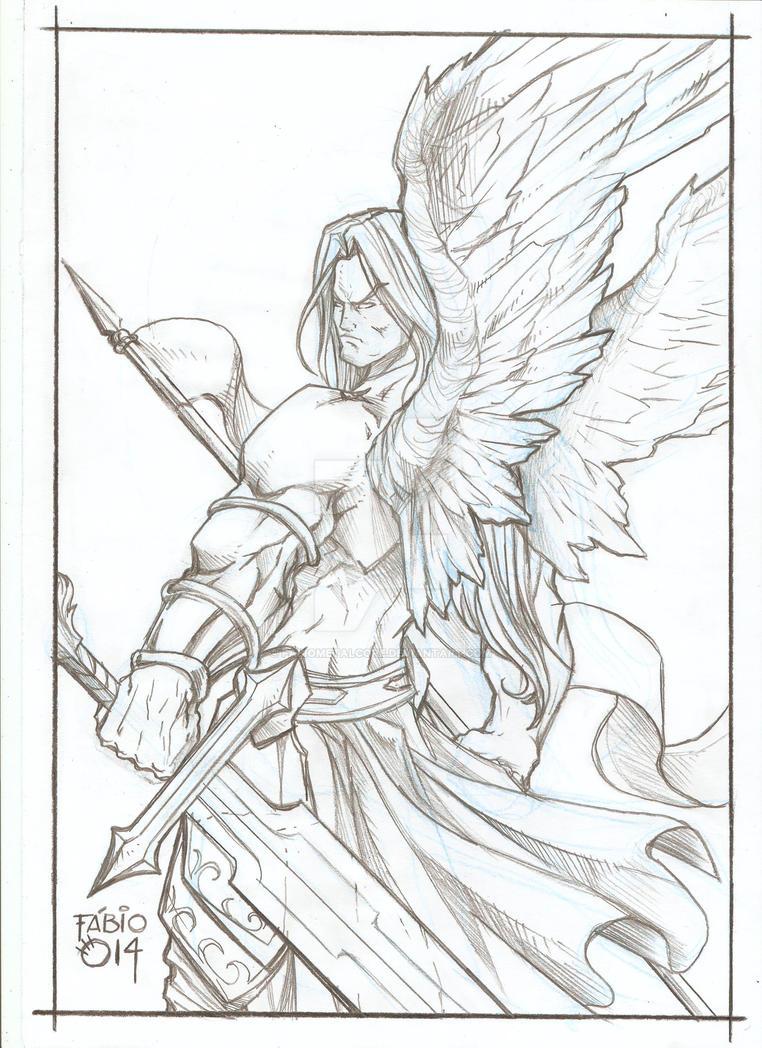 Angel Warrior - Pencils by FABIOMETALCORE