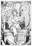 Lara-croft-lineart-by-fabio-simao by FABIOMETALCORE