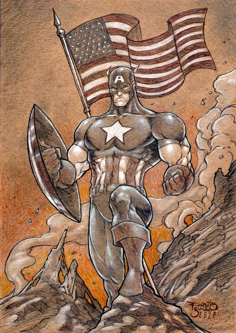 Captain America - Never Give Up Soldier 2 by FABIOMETALCORE