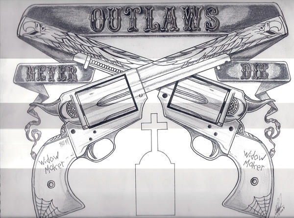 outlaws by gdc1072 on deviantart rh gdc1072 deviantart com Outlaw Tattoo Outline western outlaw tattoo designs