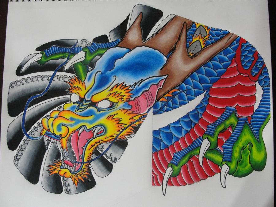 Dragon Sleeve WIP - sleeve tattoo