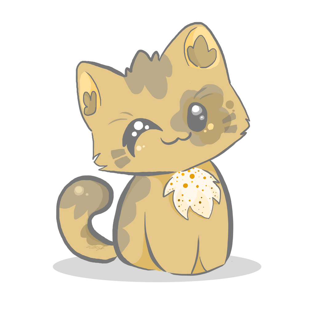 Cat Eating Candy Drawing
