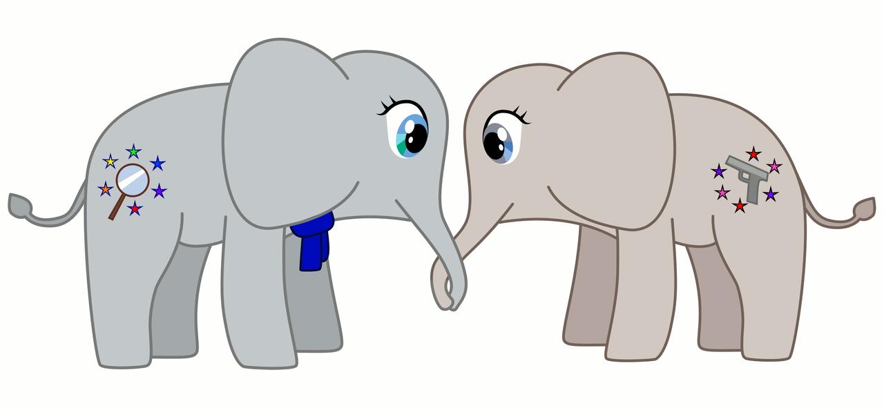 Elephants for Arwel by J-sunrise