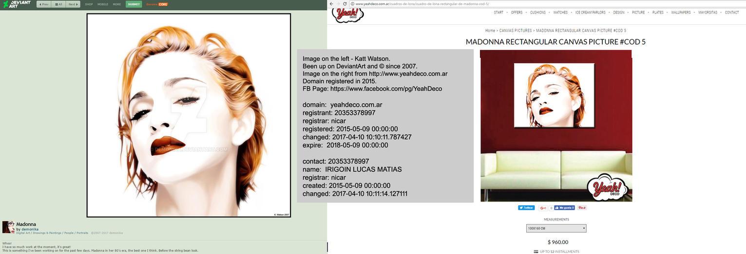 Madonna - K. Watson - being sold on YeahDeco by demonika