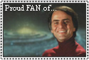 Carl Sagan stamp by Tsiphone